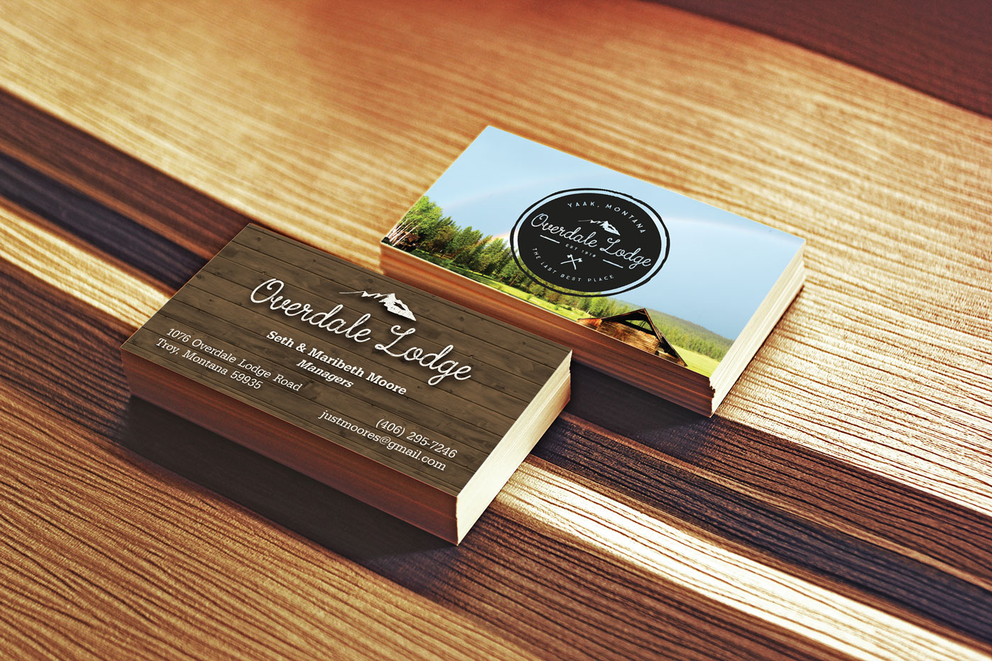 Overdale Lodge Business Cards – Larissa Franck